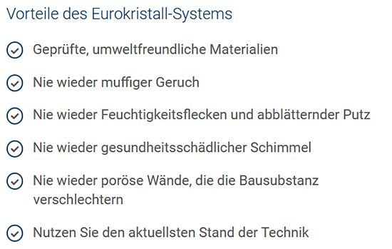 Eurokristall-Abdichtungssystem aus  Heilbronn